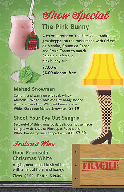 Christmas Story Beverage Guide
