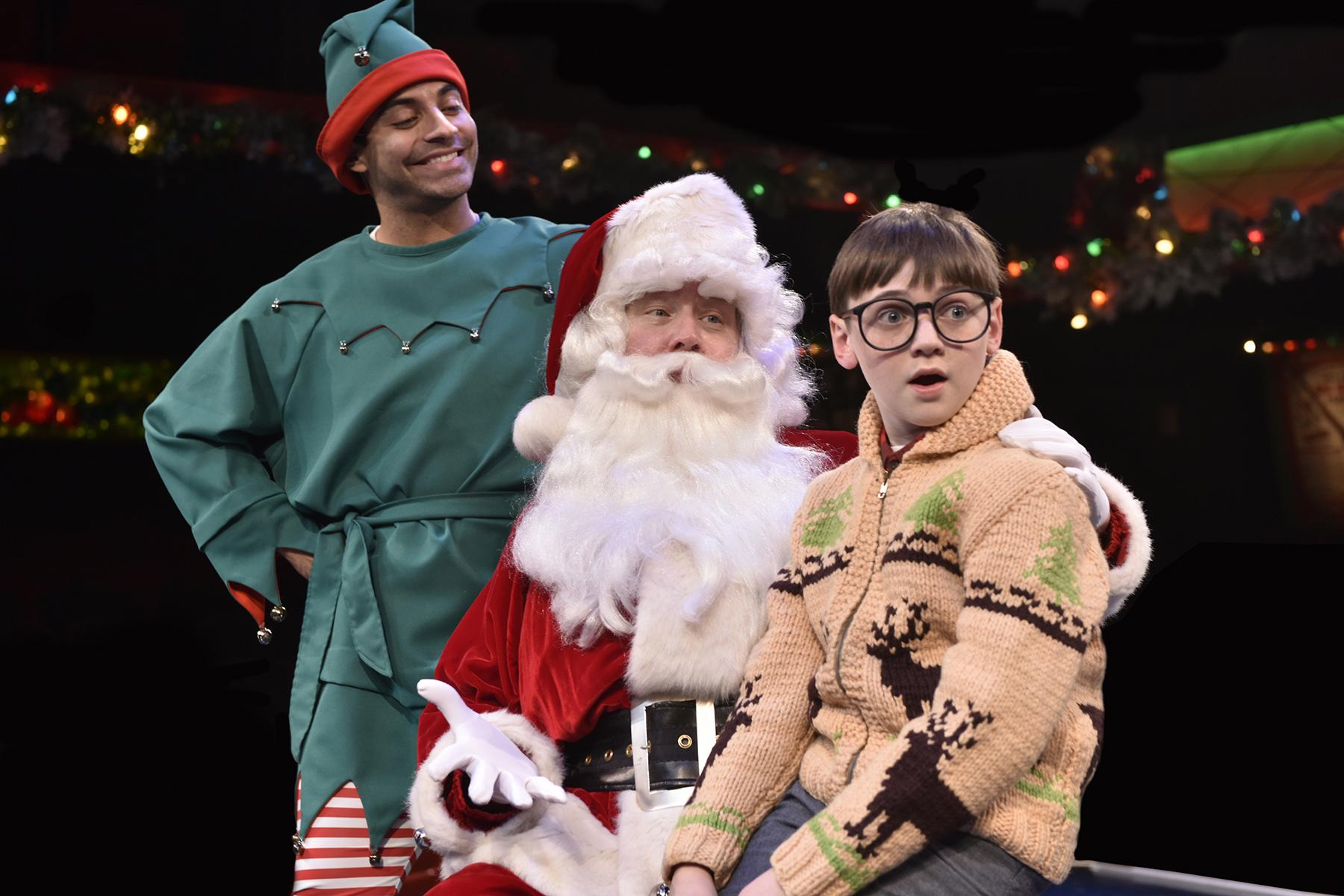 Ralphie visits Santa
