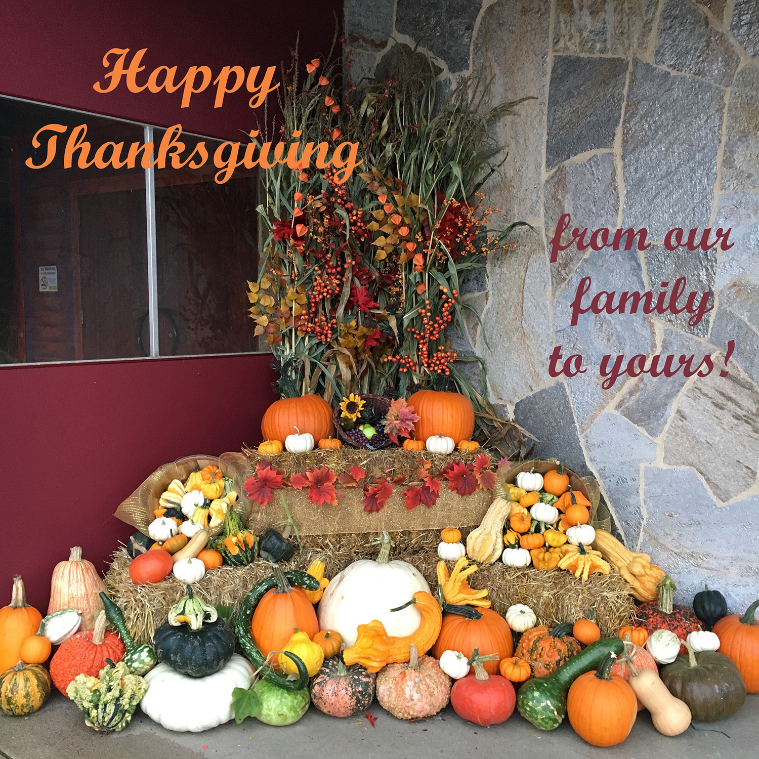 Outdoor Thanksgiving Decor