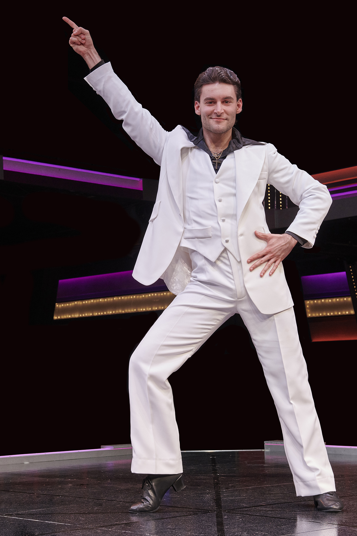 Alex Drost as Tony Manero in Saturday Night Fever
