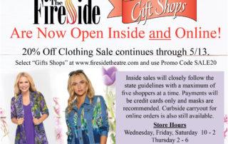 Shops Now Open
