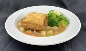 Crust-less Pork Pot Pie